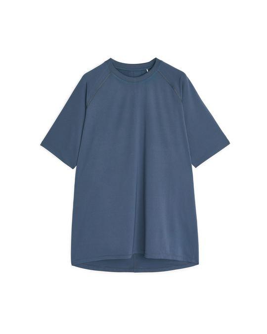 Arket Running T-Shirt Steel Blue