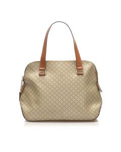 Celine Macadam Handbag Brown