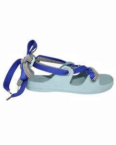 Rubber Sandals With Blue Laces