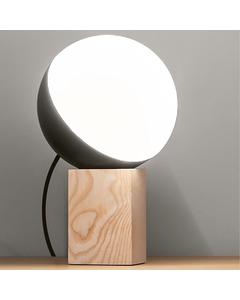 Halbmond Nerz lackiert Asche Holz Basis interaktive kleine Tischleuchte