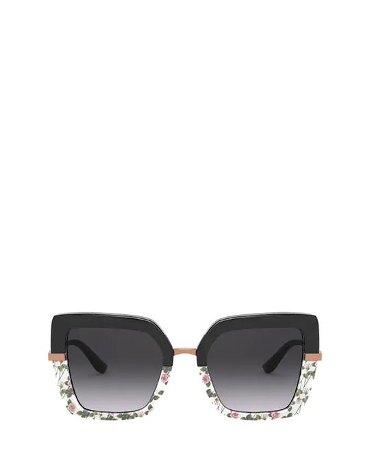 Dolce & Gabbana Dg4373 Top Black On Print Rose / Black Sunglasses
