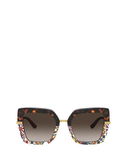 Dolce & Gabbana Dg4373 Havana / Print Carretto Sunglasses