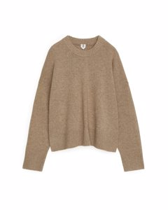 Wool Jumper Dark Beige