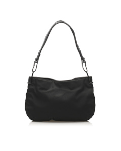 Gucci Cotton Shoulder Bag Black