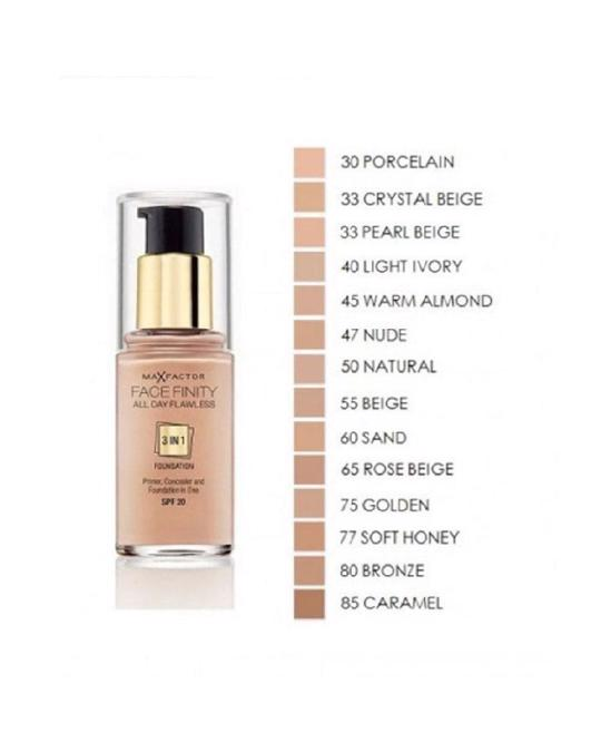 Max Factor Max Factor Facefinity 3 In 1 Foundation 50 Natural