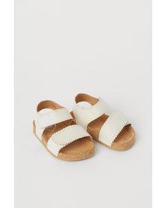 Sandalen Naturweiß/Bogenkante
