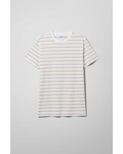 Alan Stripe T-shirt White