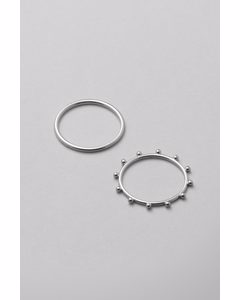Dot Ring Set Silver