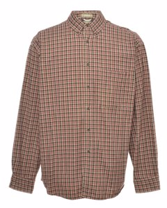2000s Arrow Long Sleeved Checked Shirt