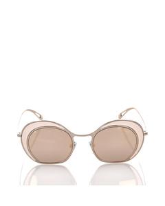 Armani Round Mirror Sunglasses Gold