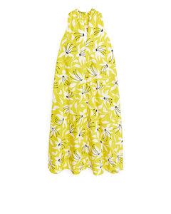 Halter Dress Acid Green/patterned