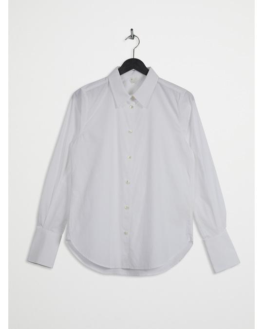 Arket Slim Poplin Shirt White
