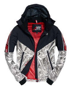 Sport Stripe Chrome Cagoule Chrome/navy