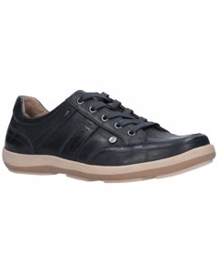 Hush Puppies Mens Vizla Lace Leather Trainers