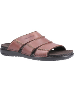 Hush Puppies Mens Cameron Leather Mule Sandal