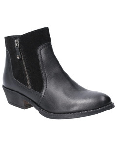 Hush Puppies Womens/ladies Leather Isla Zip Up Ankle Boot
