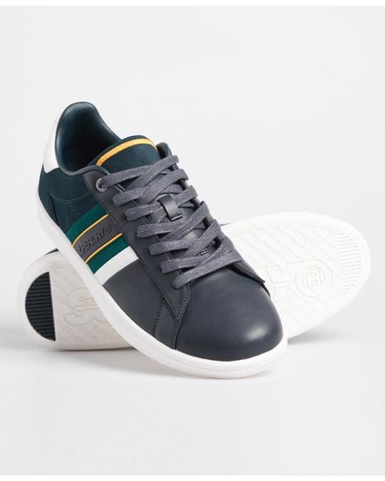 Superdry Sleek Tennis Core Trainer Dark Navy