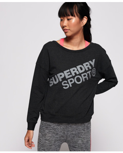 Active Graphic Crew Neck Black Marl