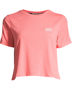 Core Crop Branded Tee Paradise Coral