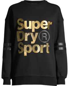 Gym Tech Gold Supercrew Black