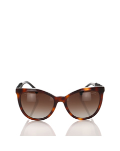 Chanel Bijou Butterfly Tinted Sunglasses Brown