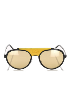 Dolce&gabbana Round Tinted Sunglasses Yellow
