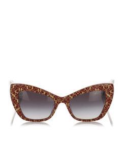 Dolce&gabbana Cat Eye Tinted Sunglasses Brown