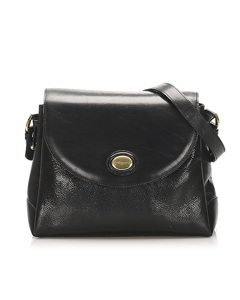 Ferragamo Leather Crossbody Bag Black