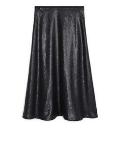 Matte Sequin Skirt Black