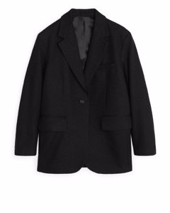 Cotton Neps Blazer Black