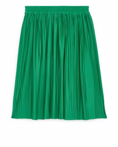 Pleated Skirt Green