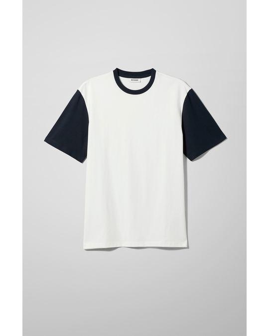 Weekday Andre Blocked T-Shirt White