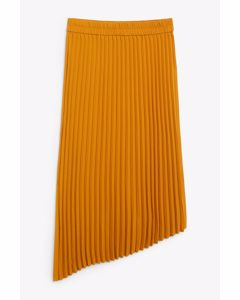 A-symmetric Pleated Skirt Sunflower Yellow
