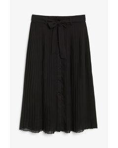 Pleated Midi Skirt Black Magic