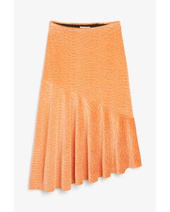 Textured Velvet Skirt Orange Sorbet