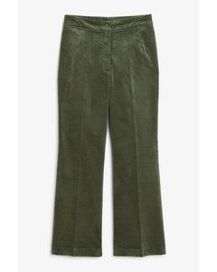 Velvet Trousers Green