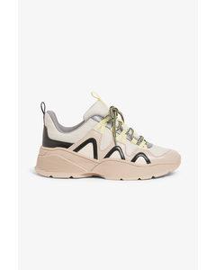 Chunky Sneakers Neon Beige
