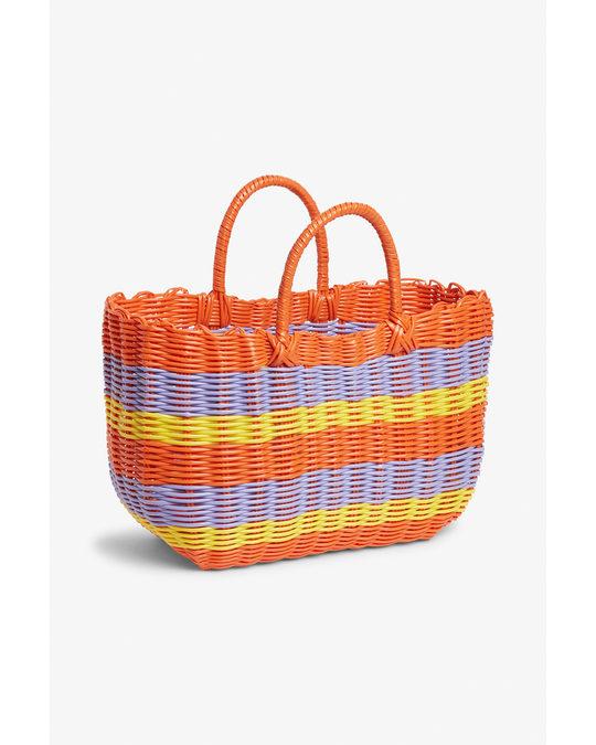 Monki Basket Bag Stripes At Sunrise