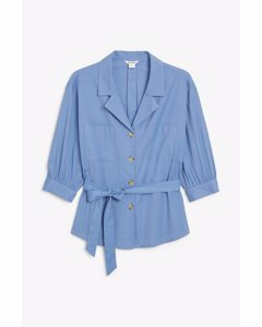 Puff Sleeve Blouse Baby Blues