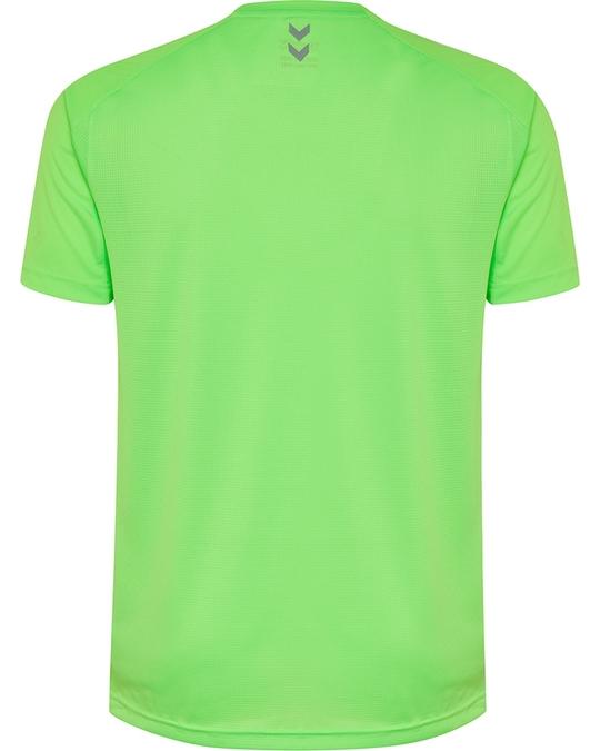 Hummel Runner Ss Tee Green Gecko