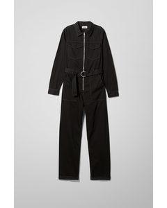 Aldan Boiler Suit Black Black