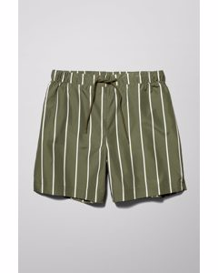 Apex Striped Swim Shorts Green
