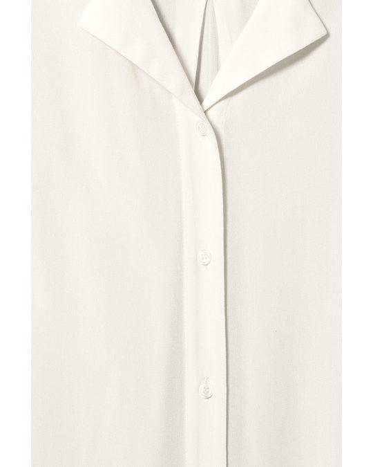 Weekday Logan Long Shirt White