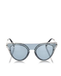 Valentino Cat Eye Tinted Sunglasses Blue