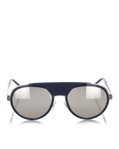 Dolce&gabbana Round Tinted Sunglasses Blue