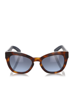 Valentino Square Tinted Sunglasses Brown