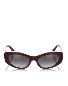 Dolce&gabbana Oval Tinted Sunglasses Red
