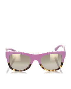 Valentino Square Mirror Sunglasses Pink