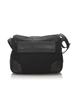 Prada Nylon Crossbody Bag Black