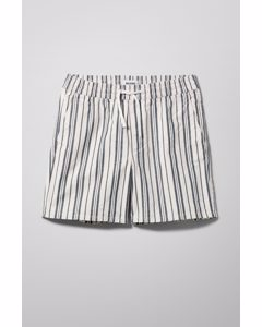 Streifen-Shorts Olsen Blau